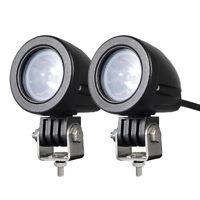 2PCS10W MINI Motorcycle Fog Driving Lights LED Spot Beam POD Work Auxiliary Lamp