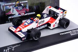 Modellino F1 Ayrton Senna Toleman TG183B Scala 1:43 Die cast