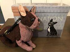 Fuzzy Nation Couture Boston Terrier French Bulldog Posable Purse Handbag + Box