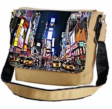 New York Times Square At Night Messenger Cross-Body Shoulder Flap Bag