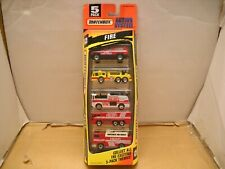 1996 Matchbox Action System 5 Pack Set Fire Department Truck Emergency Vehicles