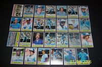 1979 Topps TORONTO BLUE JAYS Complete TEAM Set of 27 Cards 2nd Season RON FAIRLY