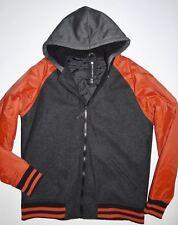New Billabong Mens Baldwin Varsity Wool Hooded Full Zip Casual Jacket Large