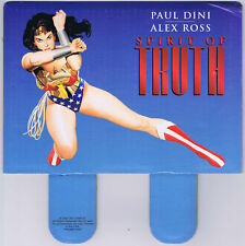 Wonder Woman Spirit of Truth Promo Display Header Alex Ross Art 2000 DC Comics