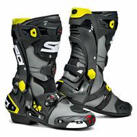 Sidi Rex CE Moto Motorcycle Bike Boots Grey / Black / Yellow
