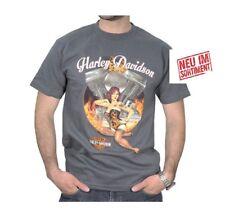 Harley Davidson T Shirt im Graphiteton  Modell Pan Pin Up