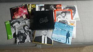 "Cliff Richard - 12 x 7"" Singles Box Set - Records / Sleeves : Nr Mint, Box : Exc"