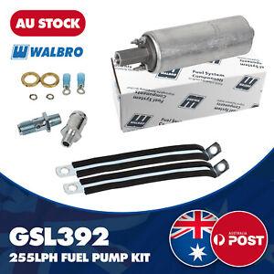 Walbro GSL392 INLINE EXTERNAL FUEL PUMP ALTERNATIVE TO BOSCH 044 - FULL KIT