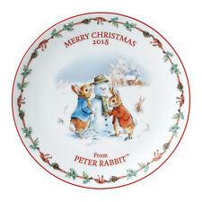 Wedgwood Peter Rabbit Christmas Plate 2018 Gift Boxed 20cm Diameter