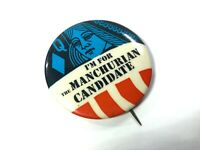 1962 MANCHURIAN CANDIDATE Movie Promotional Button Pin - Rare - Frank Sinatra