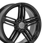18 Black Wheel Set Fits Audi A4 A5 A6 Tt Vw Beetle Cc - 18x8 Rs6 Style 35et