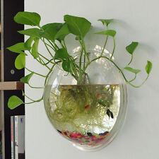 Wall Mount Fish Bowl Acrylic Aquarium Tank Beta Goldfish Hanger  Home Decor