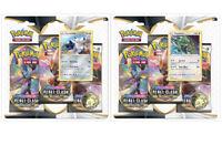 Pokemon TCG Sword & Shield Rebel Clash 2 Blister Packs Rayquaza + Duraludon