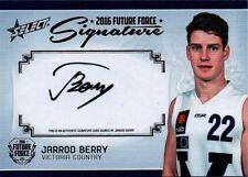 2016 SELECT FUTURE FORCE JARROD BERRY BRISBANE GOLD SIGNATURE ROOKIE 80/200 CARD