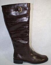A2 By Aerosoles High Ride Women Brown Croco Knee High Boot US Shoe Size 7.5 W