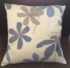 JOHN LEWIS  BLUE PASSION FLOWER FABRIC HANDMADE CUSHION  COVER  16x16 inches