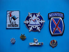 Ski patches pins lot Vail Steamboat Aspen 10th Mountain Division 7
