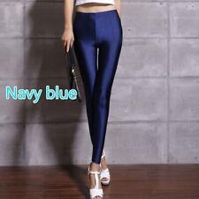 Women Leggings Skinny Shiny Pencil Pants Trousers Stretch Sport Yoga Fitness