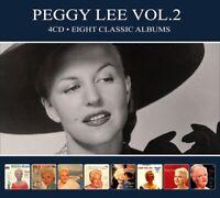 PEGGY LEE - EIGHT CLASSIC ALBUMS..  4 CD NEU