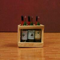 1:12 Doll House Accessories Mini 6 wine bottles with frame Sale.AU~ wooden L6H4