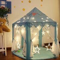 Tente de Jeu pour Enfants Filles Château Princesse Cabane Maison Jouet LED