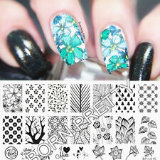 BORN PRETTY Nail Art Stamp Stamping Stencil Template Plates Nagel Schablone L015