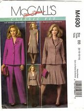 McCall's Sewing Pattern Women's JACKT DRESS PANTS M4930 Size 8-10-12-14 UNCUT
