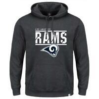 Los Angeles Rams Majestic NFL Flex Team Hoodie Jumper - Ash Marle