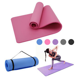 61x 183cm Yoga Mat 15mm Thick Gym Exercise Fitness Pilates Workout Mat Non Slip