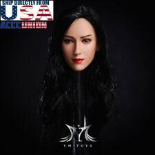 1/6 Resident Evil Ada Wong Head Sculpt LONG BLACK HAIR For PHICEN Suntan USA