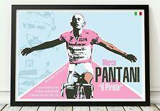 Pantani giro d'italia bicycle poster celebrating the classics. Specially created