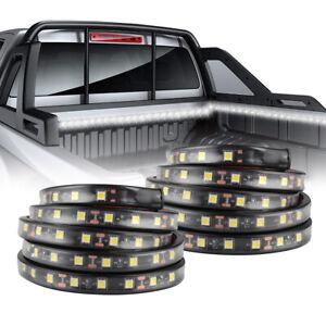 """2Pcs 60"""" White LED Cargo Car Truck Bed Light Strip Lamp Waterproof Lighting Kit"""