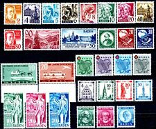 Germany Baden 1949 Issues Complete MH Set Scott's 5N28 to 5N46 & 5NB1 to 5NB14