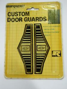NOS Vintage Chevrolet Camaro Custom Door Guards Trim Distinctive Custom Label