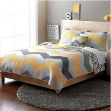 100% Cotton Coverlet / Bedspread Set King / Super King Size Bed 240x270cm Yellow