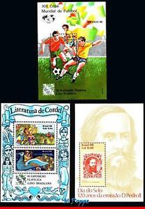 BRAZIL 1986 ALL SOUVENIR SHEETS OF THE YEAR, SCOTT VALUE $10.00, ALL MNH