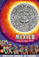 Art Ad  Mexico  Pride of Indian Culture Travel  Deco  Poster Print