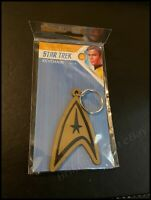 Officially Licensed Star Trek (Insignia) Rubber Keychain - New Sealed