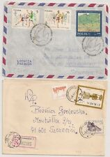 2 COVERS  POLOGNE POLAND TO SWEDEN. L595