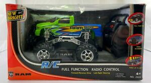 New Bright Ram 1500 Green-Blue RC Full Function Radio Control Truck. New in box