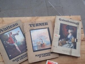 Turner,   Gainsborough,Watteau, illustrated  Art  books