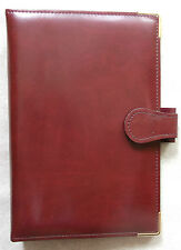NEW PICCADILLY LEATHER BURGUNDY STANDARD PERSONAL FILE ORGANISER 25mm DIAMETER