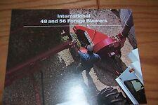 1974 INTERNATIONAL  48 and 56 FORAGE BLOWERS farm literature