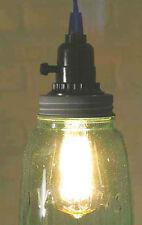 Industrial Pendant Light Lamp Vintage Half Gallon Open Bottom Mason Jar Wth Gray