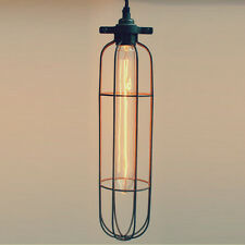 RUST effect SUB industrial pendant light cage vintage style trouble lamp
