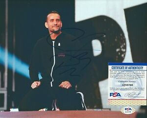 CM PUNK Autographed Signed 8x10 Photo - PSA/DNA COA - AEW WWE NXT Wrestling