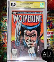 Wolverine #1 CGC 8.0 3X Signed Stan Lee Frank Miller Rubenstein (Marvel)