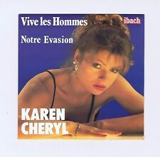 45 RPM SP KAREN CHERYL VIVE LES HOMMES