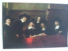 ANTIQUE PRINT C1930S THE SYNDICS BY REMBRANDT VAN RYN VINTAGE ART PRINT PAINTING