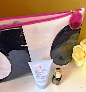 Estee Lauder Set; Advance Night Repair Lotion, Perfectly Clean & Make up Bag New